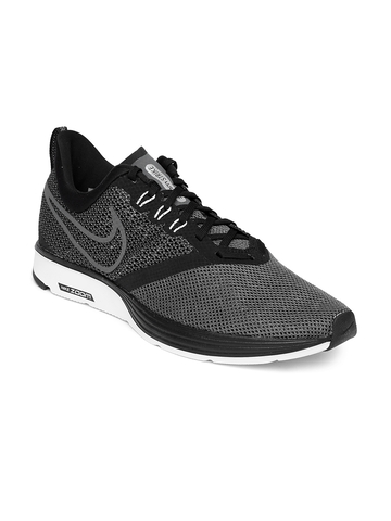 9907a7fe85076 50% OFF on Nike Men Charcoal Grey ZOOM STRIKE Running Shoes on Myntra