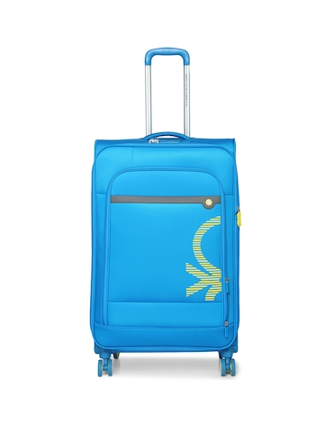 801f76151a3d 65% OFF on United Colors of Benetton Unisex Blue Large Trolley Suitcase on  Myntra