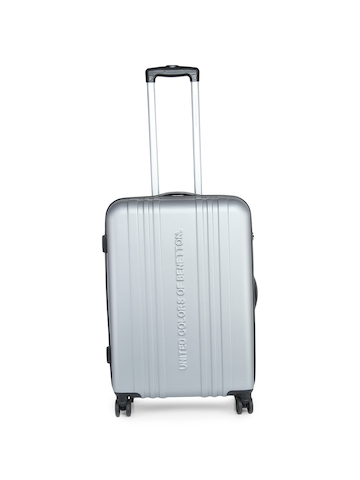 df8b03d93b47 55% OFF on United Colors of Benetton Unisex Grey Medium Trolley Suitcase on  Myntra