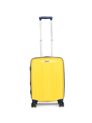 3fa06918c 50% OFF on United Colors of Benetton Unisex Yellow Cabin Trolley Suitcase