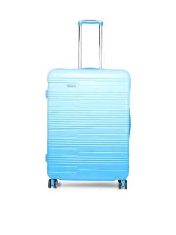15f123440f39 55% OFF on United Colors of Benetton Unisex Blue Large Trolley Suitcase on  Myntra