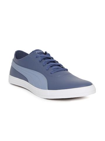 e0212f6e0748a5 35% OFF on Puma Men Blue Urban SL IDP Sneakers on Myntra ...