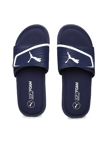 f246c43d8b756 30% OFF on Puma Men Navy Blue Starcat Sfoam Flip-Flops on Myntra ...