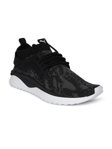 bdcc7008cd29 Buy Puma Men Black TSUGI Cage evoKNIT WF Sneakers on Myntra ...