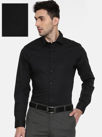 bfde9360b5e 50% OFF on Arrow New York Men Black Snug Slim Fit Solid Formal Shirt on  Myntra