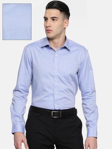 65bac849816 Buy Arrow Men Blue Snug Slim Fit Solid Formal Shirt on Myntra ...