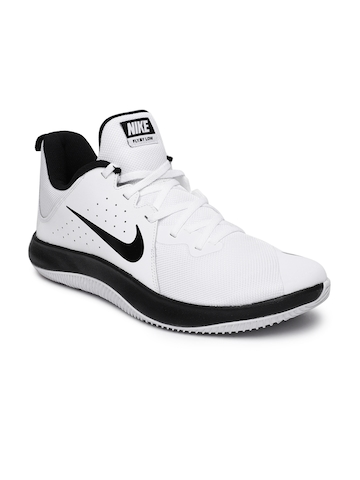 4c3d38be8de1 Buy Nike Men White Fly.By Low Leather Basketball Shoe on Myntra ...