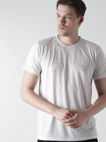 ab42b313057d Buy FOREVER 21 Men Grey Solid Round Neck T-shirt on Myntra | PaisaWapas.com