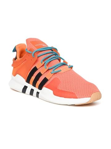 premium selection c3876 a128f Adidas Originals Men Orange EQT Support ADV Summer Casual Shoes