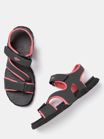 ace8836a9 50% OFF on Reebok Women Charcoal Grey Reeflex Sports Sandals on ...
