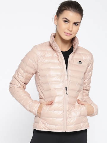 buy good temperament shoes promo codes Adidas Women Beige Solid VARILITE Quilted Jacket
