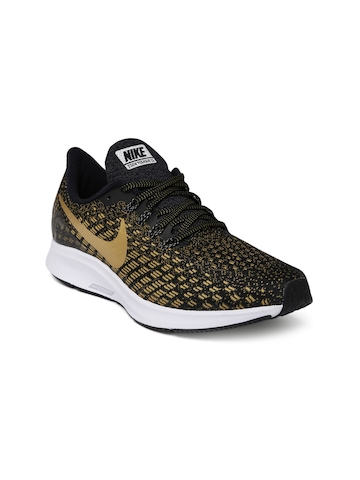 OFF. Nike Women Black   Gold AIR ZOOM PEGASUS 35 Running Shoes ea70c17a8