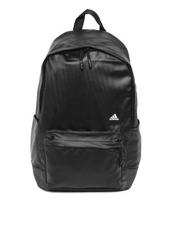7e212feb09be 40% OFF on ADIDAS Unisex Black Textured Classic Water Repellent Backpack