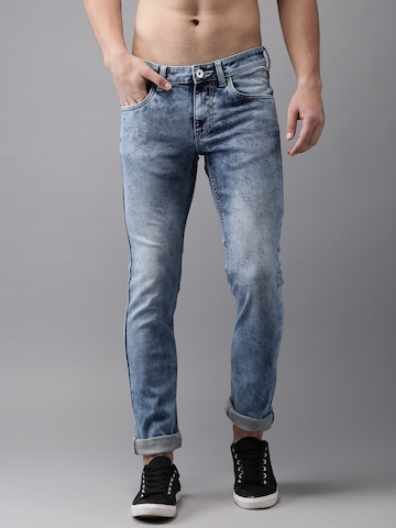 531d23c3 40% OFF on Flying Machine Men Blue Skinny Fit Low-Rise Clean Look  Stretchable Jeans on Myntra | PaisaWapas.com