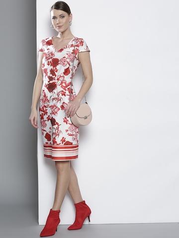 3bbfed5ffd5ca 25% OFF on DOROTHY PERKINS Women White & Red Printed Sheath Dress on Myntra  | PaisaWapas.com