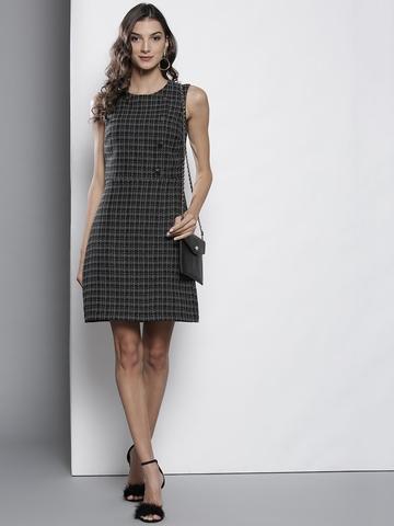 02d7032521a5f 25% OFF on DOROTHY PERKINS Women Black & White Checked Sheath Dress on  Myntra | PaisaWapas.com