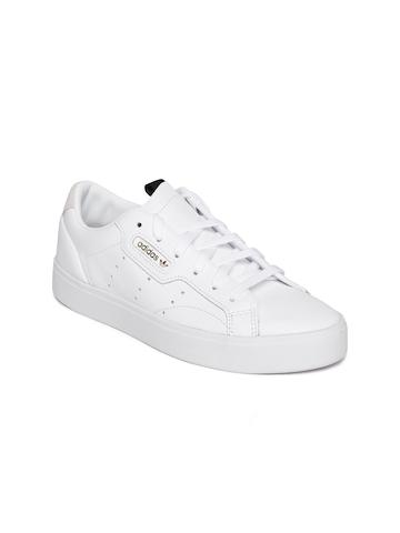 b59ae4ba3 Buy ADIDAS Originals Women White Sleek Leather Sneakers on Myntra |  PaisaWapas.com