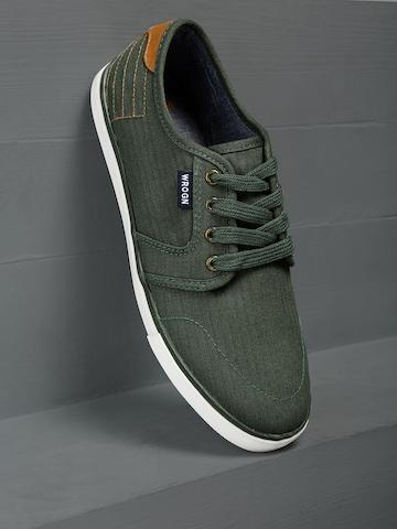 WROGN Men Green Sneakers on Myntra