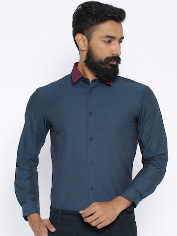 fcea9fcdb08 50% OFF on Arrow New York Blue Snug Fit Smart Casual Shirt on Myntra ...