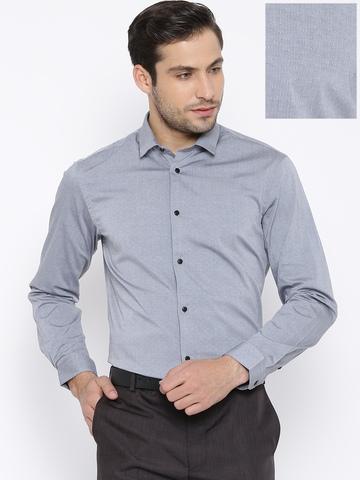 11a74efc1bc 50% OFF on Arrow New York Grey Snug Fit Formal Shirt on Myntra ...