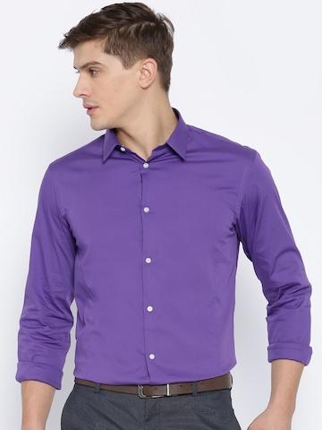 020ded487a0 40% OFF on Arrow New York Purple Snug Fit Formal Shirt on Myntra ...