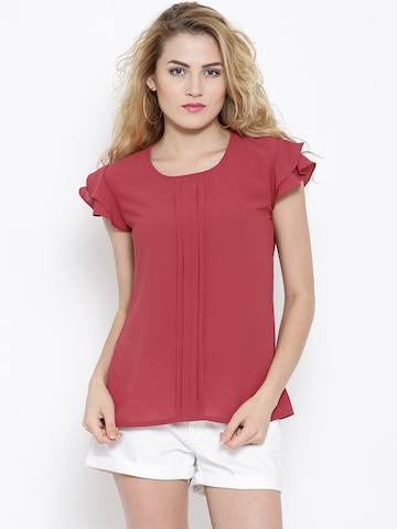 RARE Pink Pleated Top