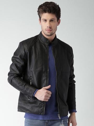 Mast & Harbour Black Faux Leather Biker Jacket