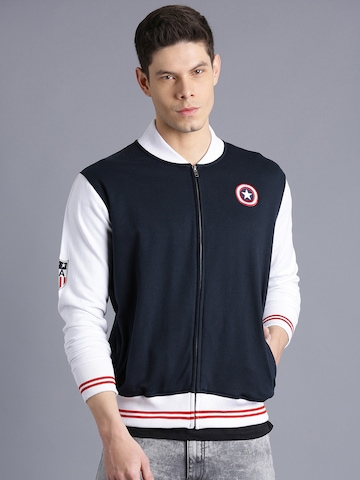 Kook N Keech Marvel Navy & White Colourblocked Sweatshirt