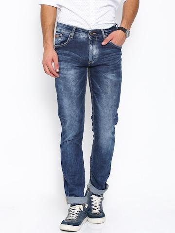 SPYKAR Men Blue Slim Fit Low-Rise Clean Look Jeans