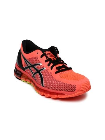 livraison gratuite e649a e09f3 ASICS Women Neon Orange Gel-Quantum 360 2 Running Shoes