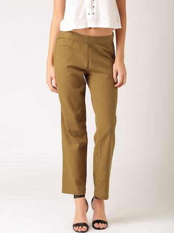 all about you from Deepika Padukone Women Khaki Trousers