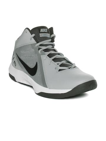 7632cf6188fbb Nike Men White & Grey The Air Overplay IX Basketball Shoes