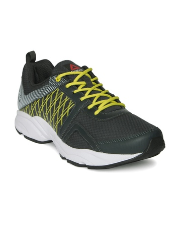 OFF on Reebok Men Charcoal Grey Smooth