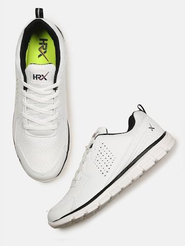 e993fed8c 70% OFF on HRX by Hrithik Roshan Men White Walking Shoes on Myntra ...