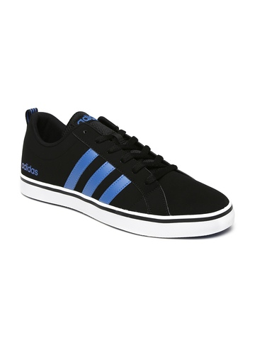 f3334d5b05c9 40% OFF on Adidas NEO Men Black Solid Pace VS Leather Sneakers on Myntra