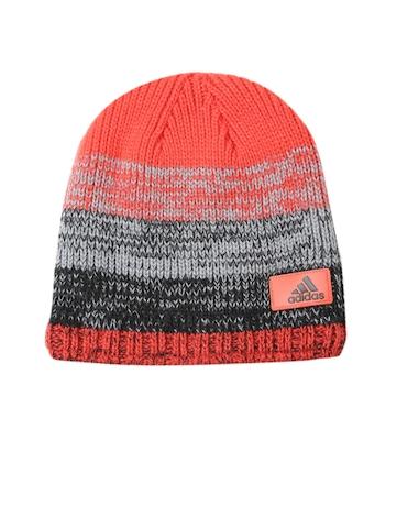 40% OFF on Adidas Unisex Red   Grey CLMHT Fade Patterned Beanie on Myntra  9ae0eaa1a78