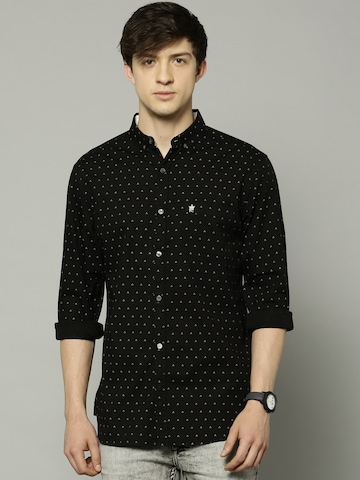 d2bbac7f594 60% OFF on French Connection Men Black Printed Slim Fit Casual Shirt on  Myntra