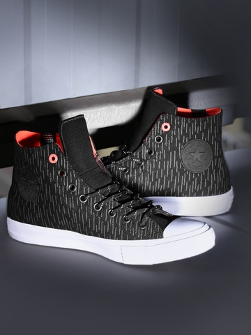 ae02273fa79b 70% OFF on Converse Men Black Printed Chuck Taylor All Star II Shield Canvas  High-Top Sneakers on Myntra