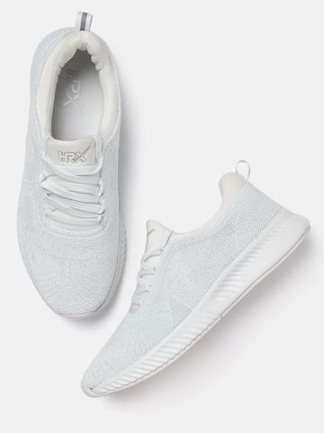 1553dc957 40% OFF on HRX by Hrithik Roshan Men White Running Shoes on Myntra ...