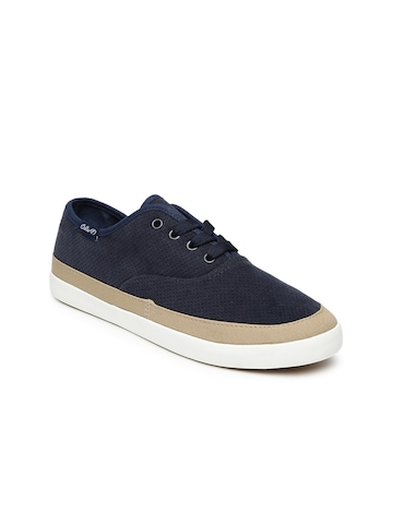 Boltio Women Navy Blue Textured Sneakers