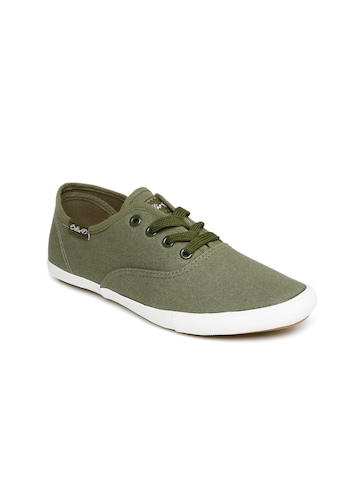 Boltio Women Olive Green Solid Sneakers