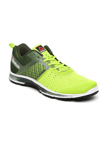 12997848cfe Buy Reebok Men Fluorescent Green Ride One Running Shoes on Myntra ...