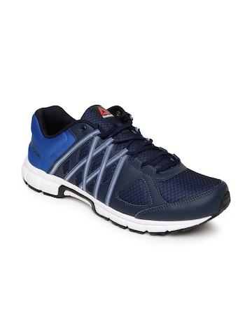 50 off on reebok men navy blue running shoes on myntra
