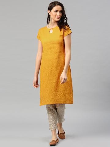 Libas Mustard Yellow Kurta