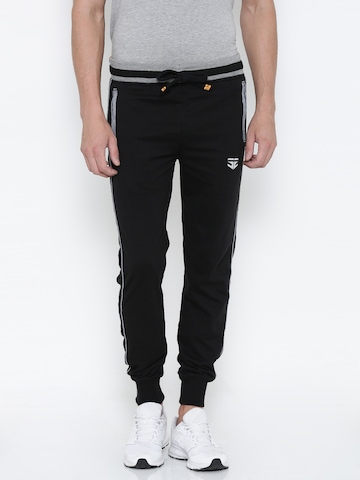 FIFTY TWO Black Jogger Track Pants