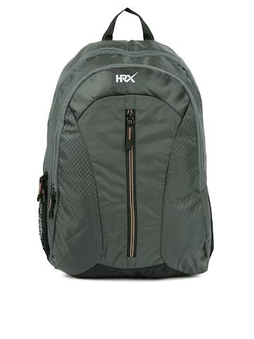 e92d01d15f HRX by Hrithik Roshan Unisex Grey Velocity Textured Backpack