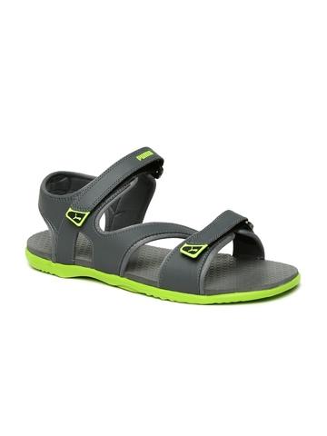 955b7e4a0ee5 Buy Puma Men Grey   Green Elego 2 IDP Sports Sandals on Myntra ...