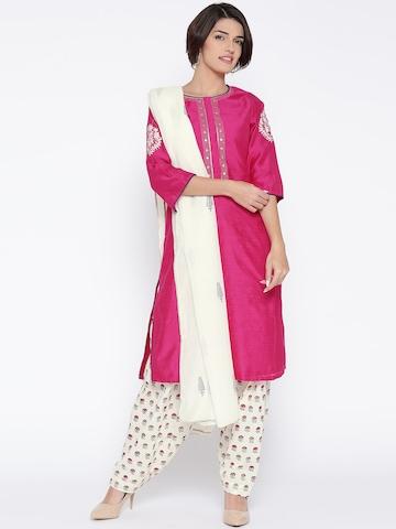 a0c44be6ee 50% OFF on Biba Pink & White Salwar Suit with Dupatta on Myntra |  PaisaWapas.com