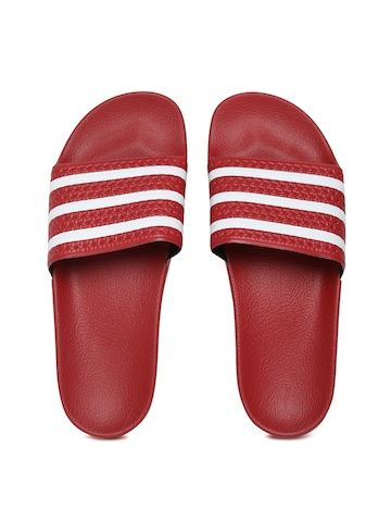 0fc9b4d41 Buy Adidas Originals Men Red Adilette Flip-Flops on Myntra ...