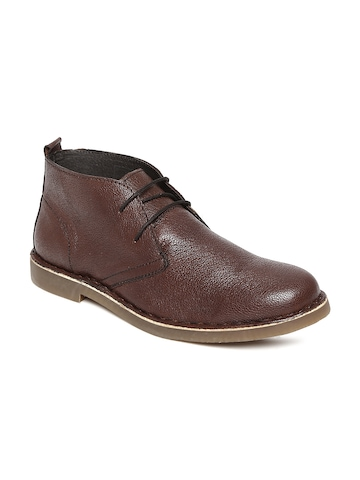 Men Brown Leather Casual Shoes